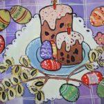 Васильева Констанция, 9 лет. Пасхальный стол. ДХШ № 2 г.Северодвинск, преп.-Рюмина Н.А.