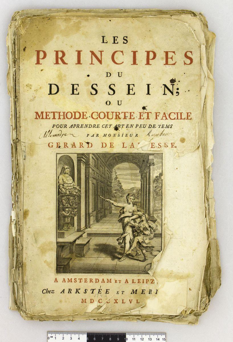 АОКМ КП-3457 Книга на иностранном языке с правилами для рисовального художества