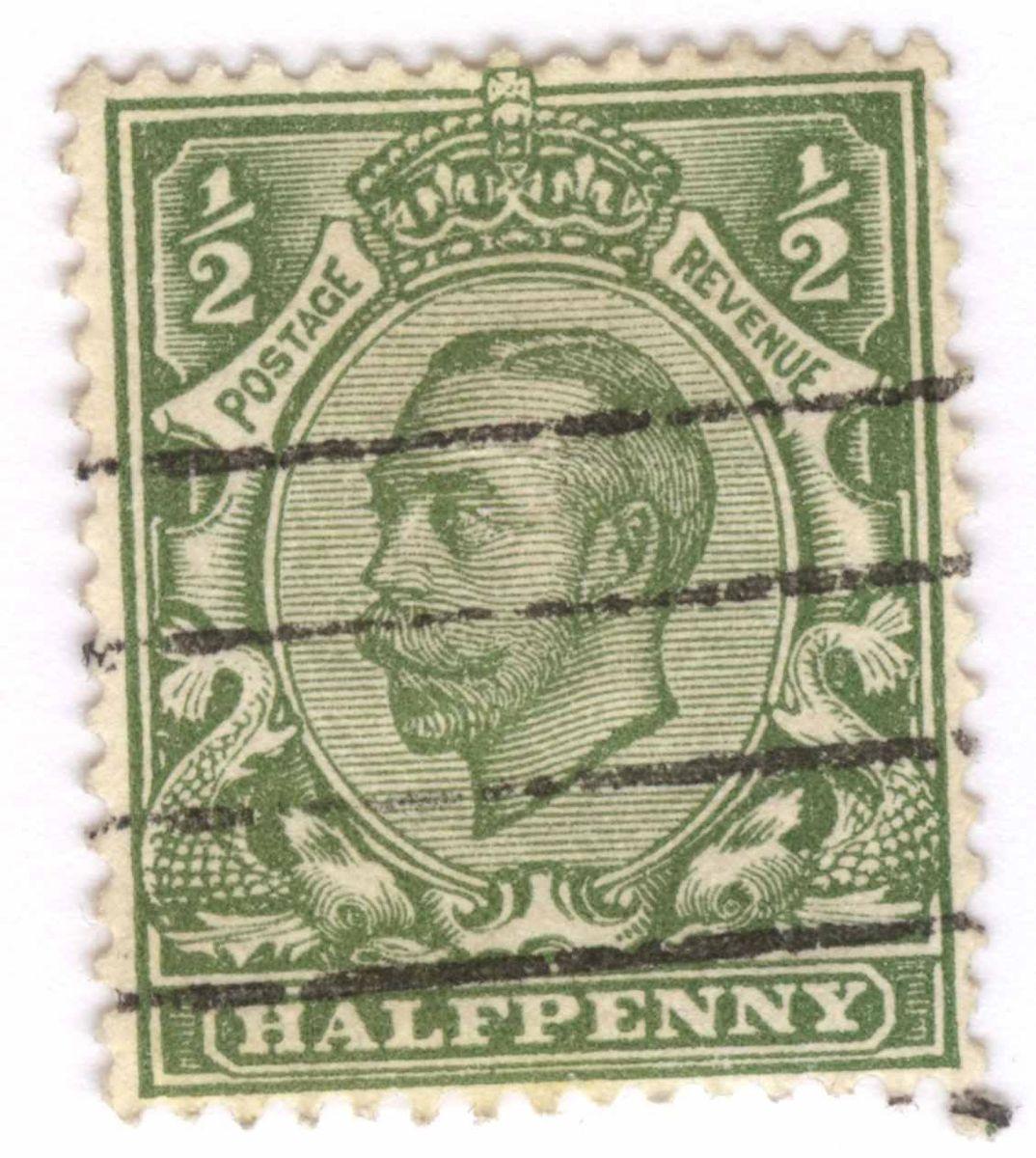 КП-6580-6 Марка почтовая королевства Великобритании
