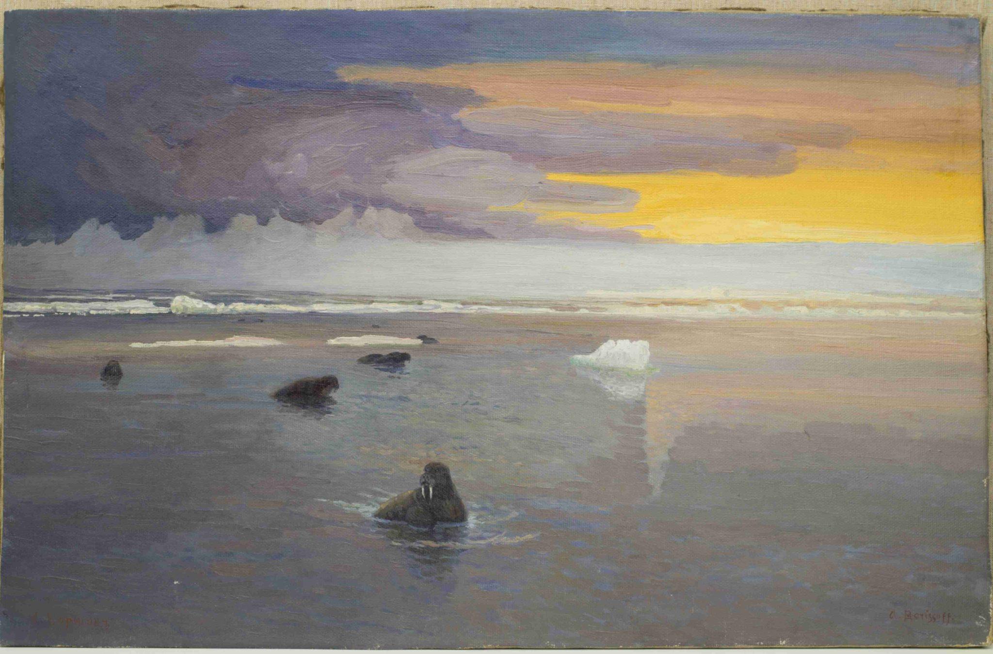 АОКМ КП – 187 Летняя ночь в Карском море А.А. Борисов 1928 г.