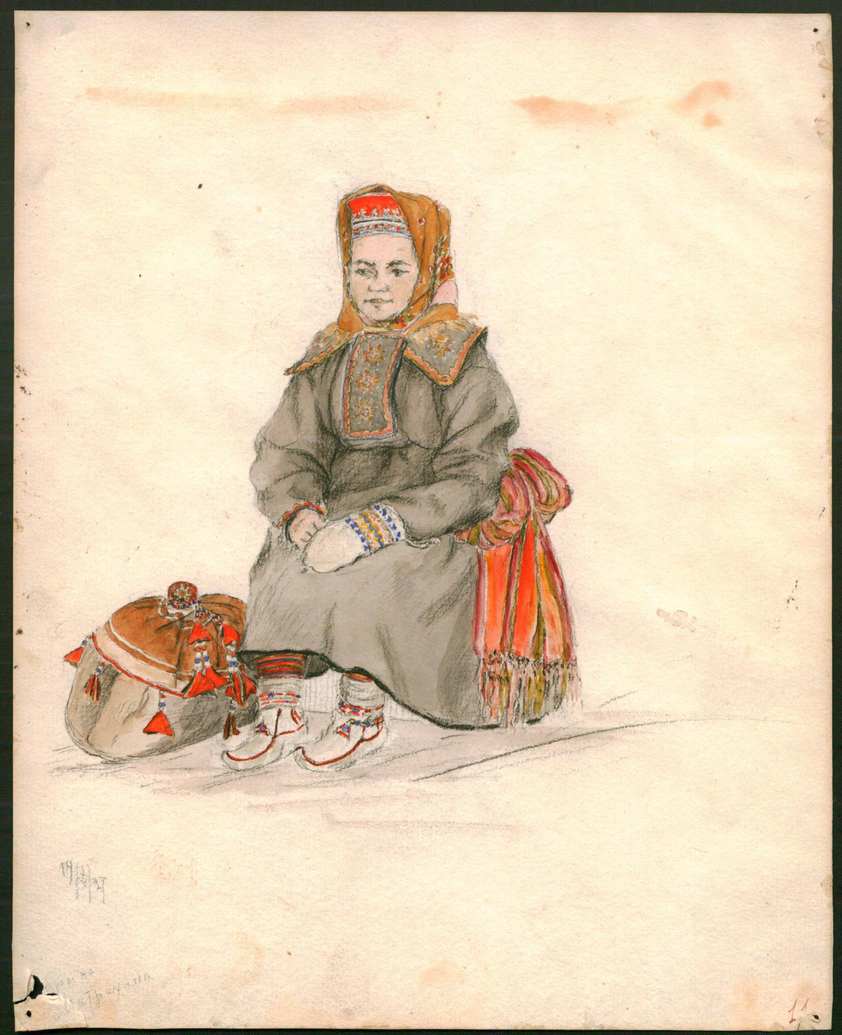 АОКМ КП – 37069 Портрет Марины Матрехиной С.Г. Писахов 1927 г.